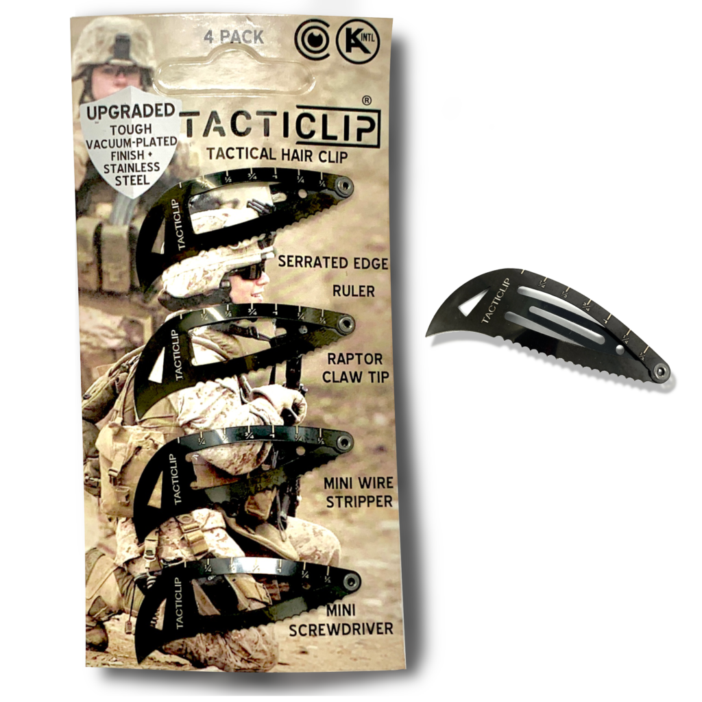 Stainless Steel Multi-tool Hair Clip Tacticlip packaging
